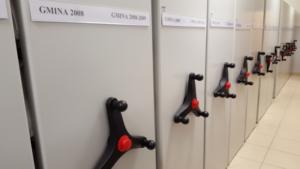 VARIA regaly przesuwne, shelving system Flexirol