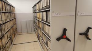 VARIA regały przesuwne biurowe Flexirol, Scaffalature mobili