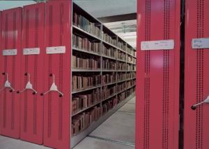VARIA regały jezdne do bibliotek FOREG, shelving system